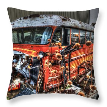 Bus Ride Throw Pillow