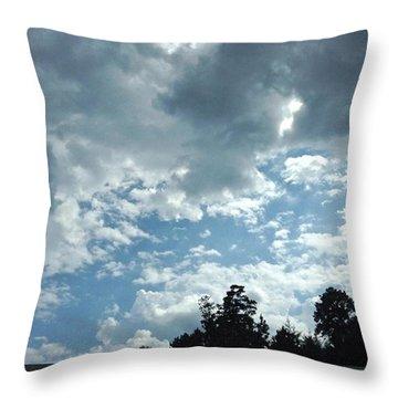Busy Sky Throw Pillow