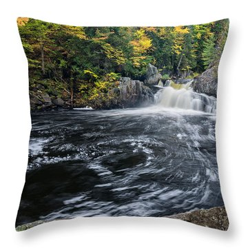 Buttermilk Falls Gulf Hagas Me. Throw Pillow by Michael Hubley