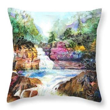 Buttermilk Falls IIi Throw Pillow by Patricia Allingham Carlson