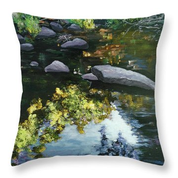 By The Creek Throw Pillow