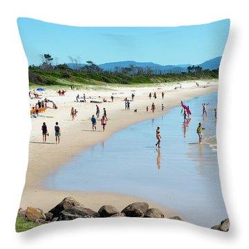 Byron Bay Main Beach Throw Pillow