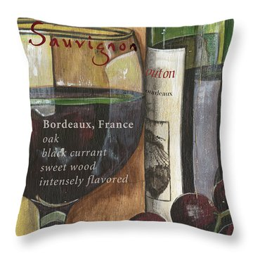 Cabernet Sauvignon Throw Pillow