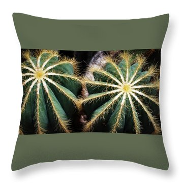 Cactus  Throw Pillow by Catherine Lau