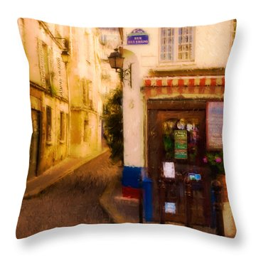 Cafe On The Rue Des Ursins Throw Pillow