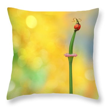 California Girls Throw Pillow by John Poon