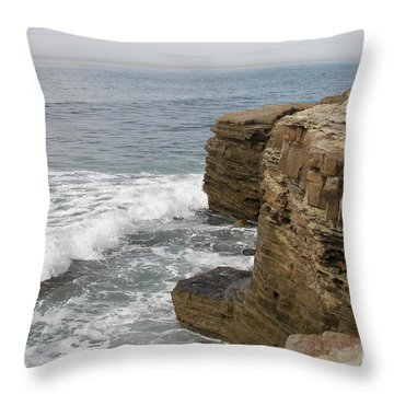 Throw Pillow featuring the photograph California Seascape by Carol  Bradley