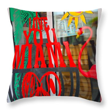 Calle Ocho Throw Pillow