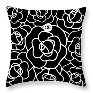 Camellia Cc Throw Pillow