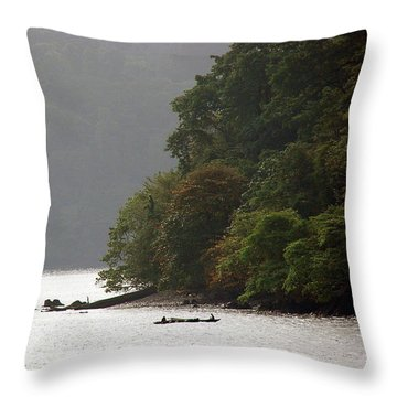 Cameroon Fisherman Africa Throw Pillow