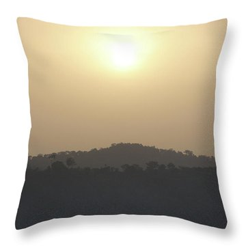 Cameroon Sunrise Africa Throw Pillow