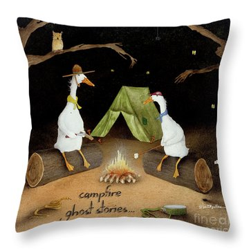 Campfire Ghost Stories Throw Pillow