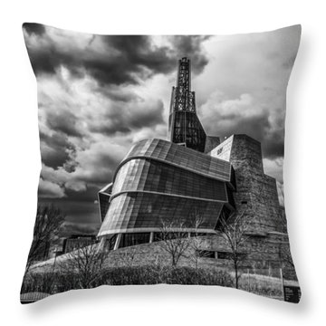 Canadian Museum For Human Rights Throw Pillow by Tom Gort