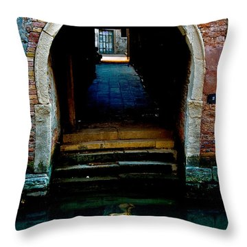 Canal Entrance Throw Pillow