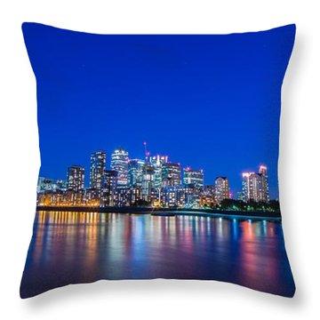 Canary Wharf 3 Throw Pillow