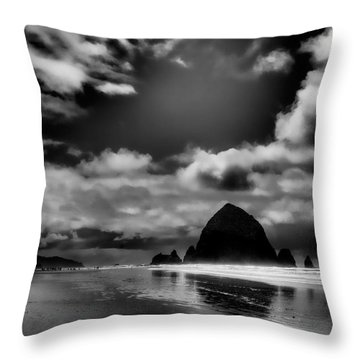 Cannon Beach Throw Pillow by David Patterson