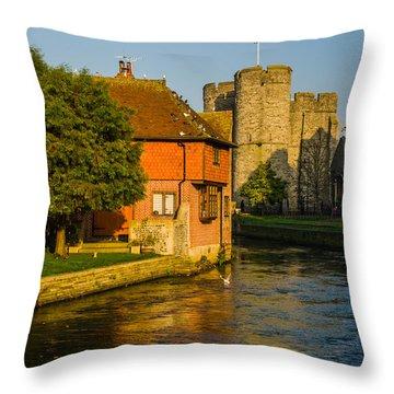 Canterbury Throw Pillow by Daniel Precht