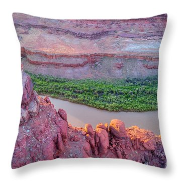Canyon Of Colorado River - Sunrise Aerial View Throw Pillow
