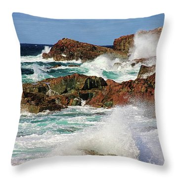 Cape Bonavista, Newfoundland Throw Pillow