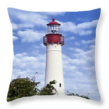Cape May Lighthouse Throw Pillow by John Greim