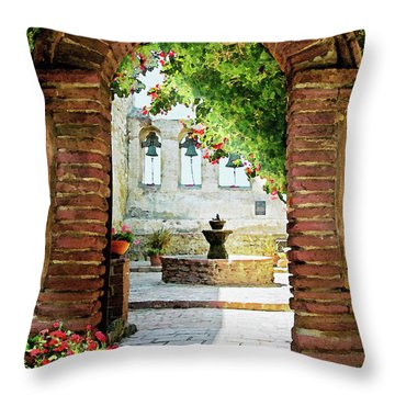 Capistrano Gate Throw Pillow