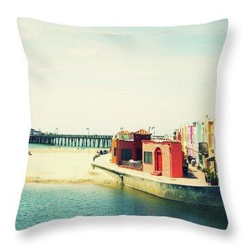 Capitola Venetian- Art By Linda Woods Throw Pillow