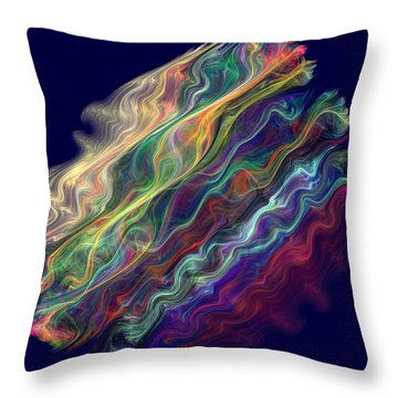 Captive Waves Throw Pillow