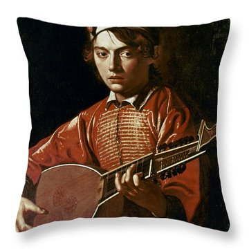 Caravaggio: Luteplayer Throw Pillow by Granger
