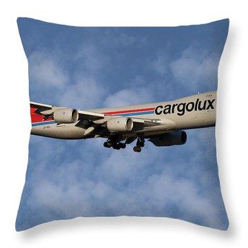 Cargolux Boeing 747-8r7 1 Throw Pillow
