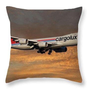 Cargolux Boeing 747-8r7 3 Throw Pillow