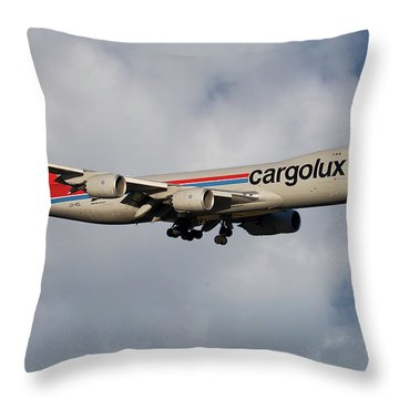Cargolux Boeing 747-8r7 5 Throw Pillow