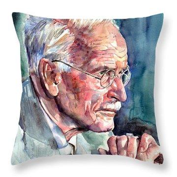 Carl Gustav Jung Portrait Throw Pillow