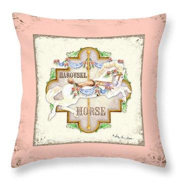 Carousel Dreams - Horse Throw Pillow