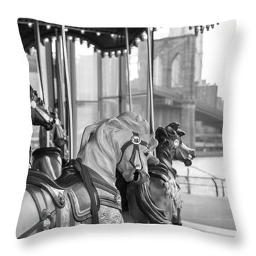 Carrousel Nyc Throw Pillow