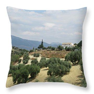 Caseria De San Jose Near Iznajar Throw Pillow