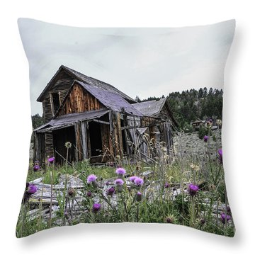 Castle Town Throw Pillow