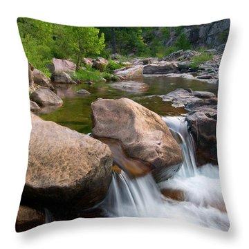 Castor River Shut-ins Throw Pillow by Steve Stuller