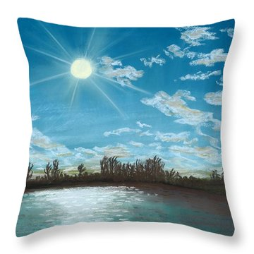 Catch And Release Throw Pillow by Jackie Novak