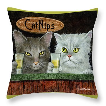Catnips... Throw Pillow