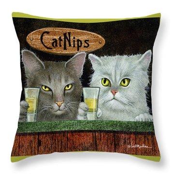 Catnips... Throw Pillow