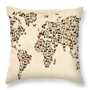 Cat Throw Pillows
