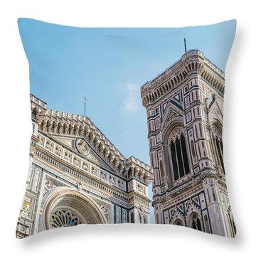 Cattedrale Di Santa Maria Del Fiore Is The Main Church Of Floren Throw Pillow