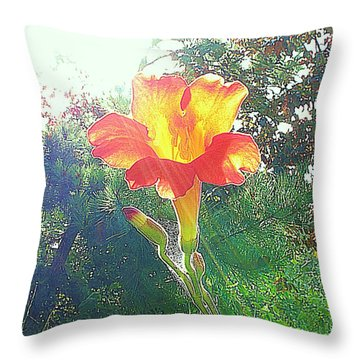 Cayuga Park Flower Throw Pillow