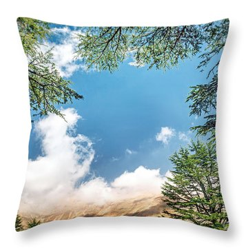 Cedars Of Lebanon Throw Pillow