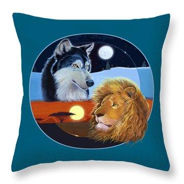 Celestial Kings Circular Throw Pillow