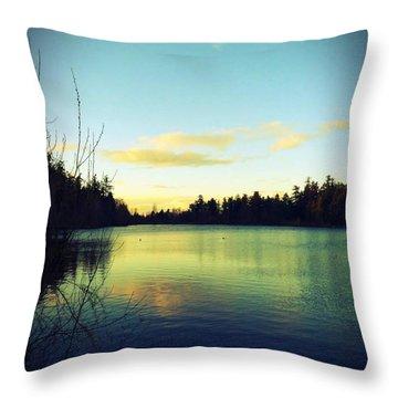 Center Of Peace Throw Pillow