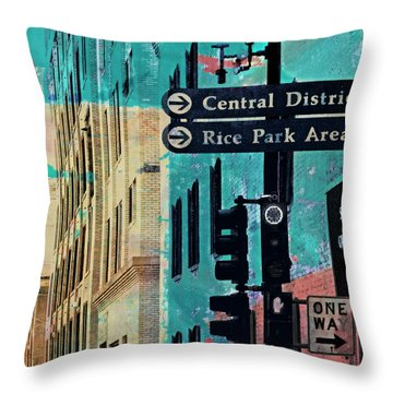 Throw Pillow featuring the photograph Central District by Susan Stone