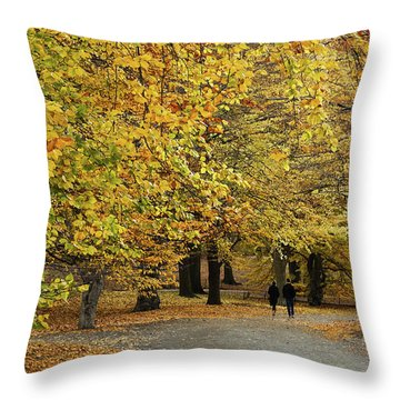 Central Park Gold Throw Pillow