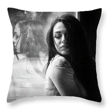 Throw Pillow featuring the photograph C'est Un Beau Roman by Traven Milovich