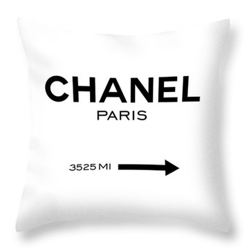 Chanel Paris Throw Pillow